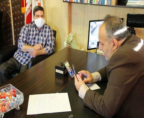 ملاقات مردمی مدیرکل بهزیستی استان کردستان با مددجویان( به صورت آنلاین)
