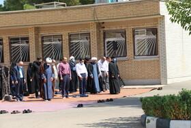 گزارش تصویری | برگزاری نماز جماعت ظهر و عصر در ستاد استان