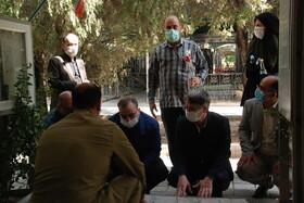 گزارش تصویری| غبار روبی مزار شهدا در آغاز هفته دفاع مقدس