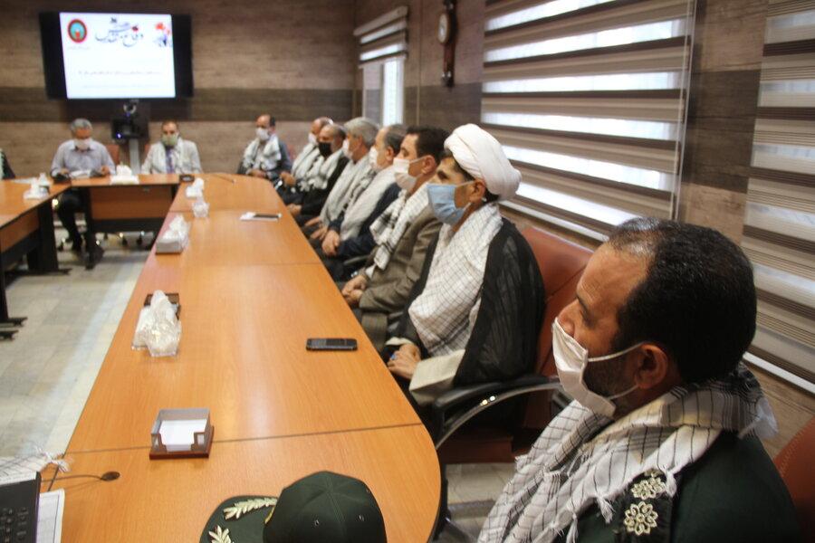 گزارش تصویری ا مراسم گرامی داشت هفته دفاع مقدس در بهزیستی استان