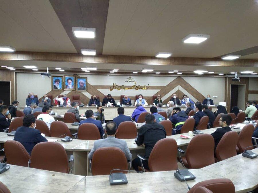 نشست بررسی وضعیت مناطق سیل زده شهرستان در فرمانداری تالش