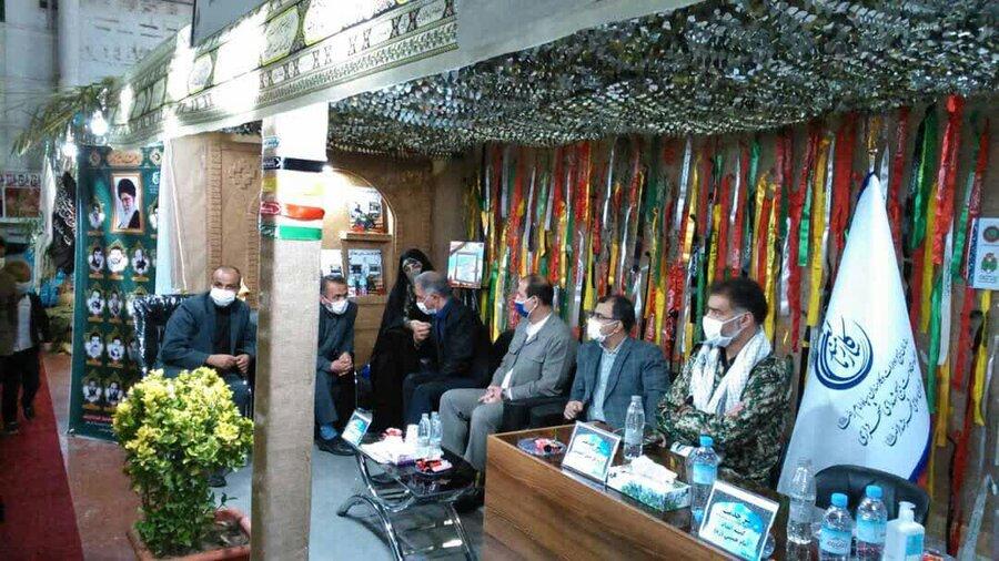 میز خدمت بسیج ادارات استان در نمایشگاه دفاع مقدس