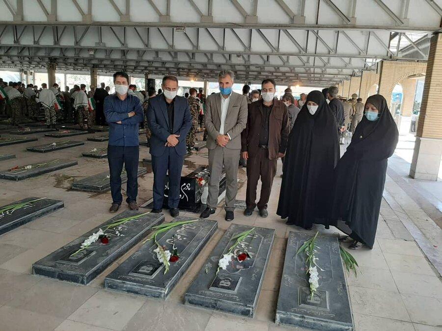 تجدید میثاق پرسنل بهزیستی استان کرمانشاه با شهدا