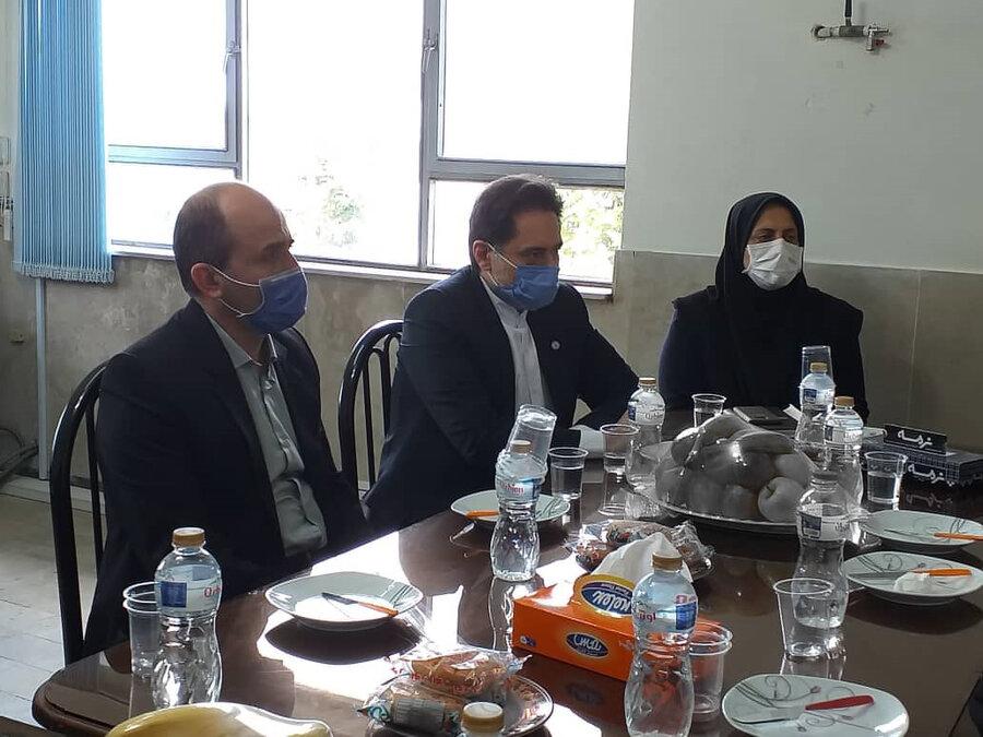 بازدید دکتر حسین نحوی نژاد از آسایشگاه معلولین ذهنی امام رضا (ع) رودسر