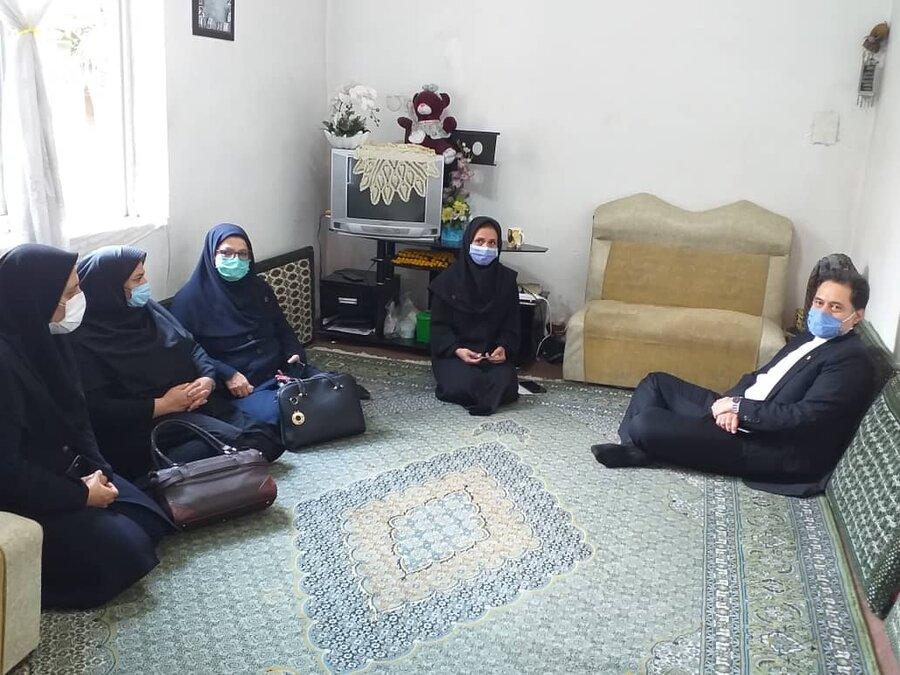 دیدار مدیرکل بهزیستی گیلان با خانواده ۳ معلول شهرستان رودسر