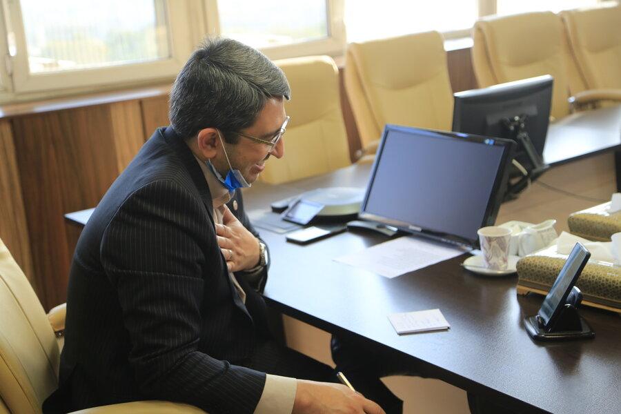 ششمین جلسه ارتباط آنلاین دکتر قبادی دانا با مدد جویان