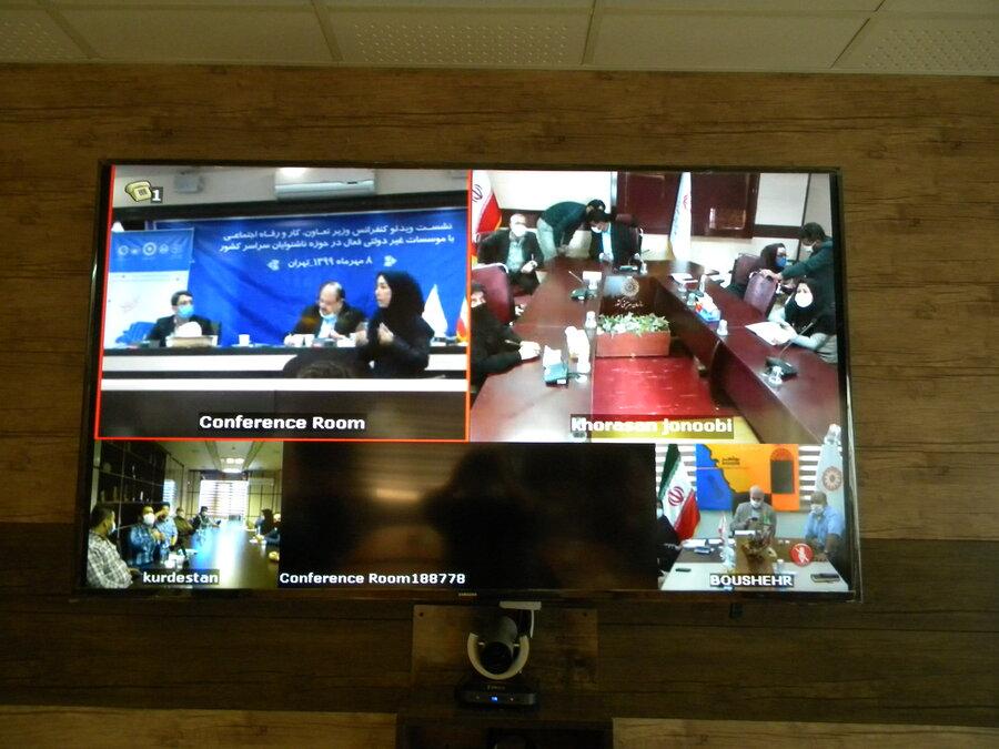 جلسه اعضای انجمن های غیر دولتی ناشنوایان با وزیر محترم تعاون ، کار و رفاه اجتماعی