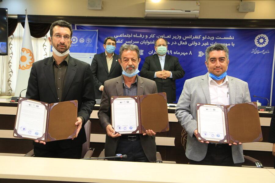 تفاهم نامه زبان اشاره ایرانی به عنوان زبان اشاره مورد وثوق و حمایت همه تشکل های ناشنوایان امضا  شد
