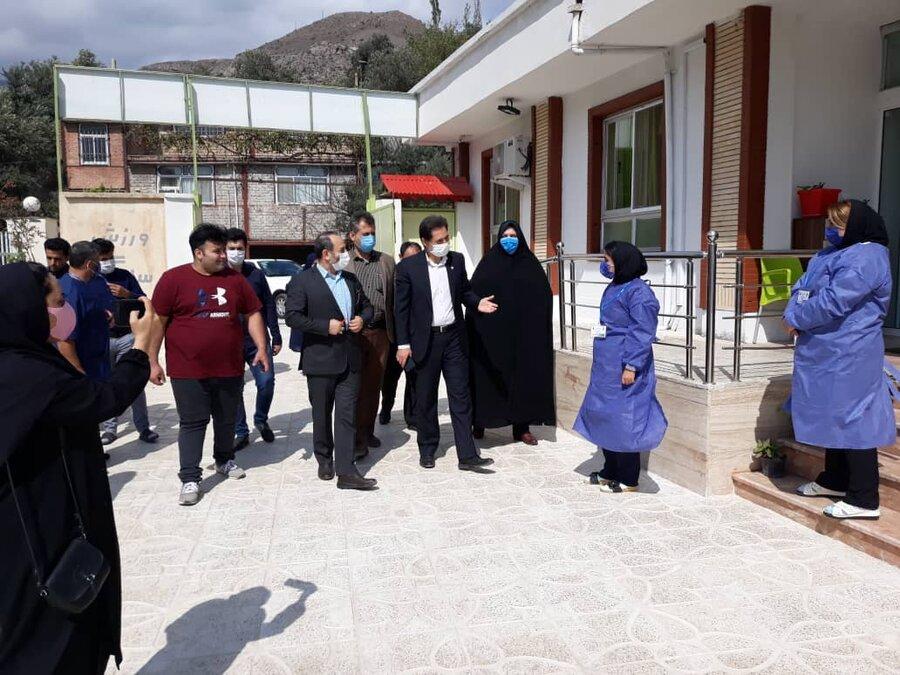 بازدید دکتر حسین نحوی نژاد از مرکز سالمندان ابوالفضل شهرستان رودبار