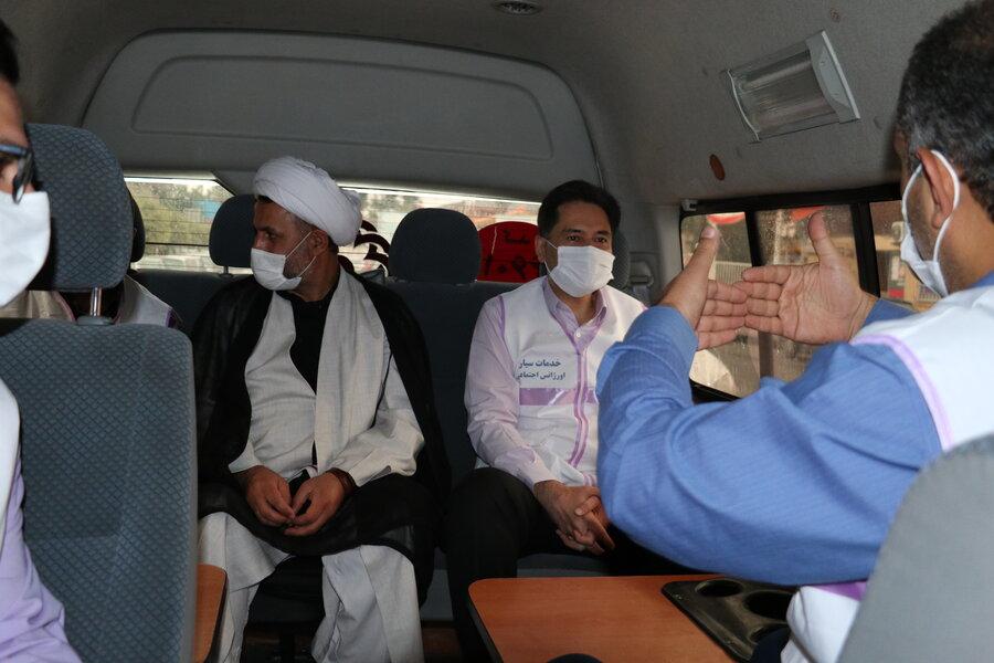 بازدید دکتر حسین نحوی نژاد از کیس کودک آزاری بستری شده در یکی از بیمارستانهای شهر رشت