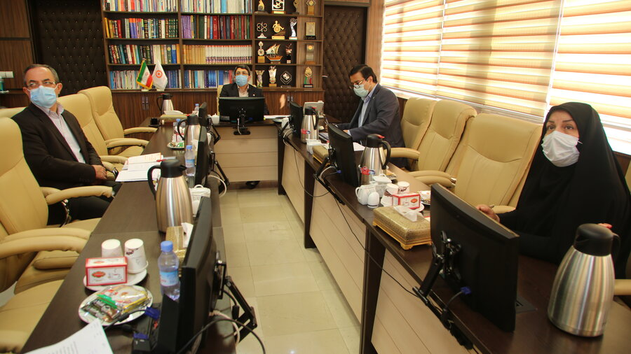 نهمین جلسه ارتباط ویدئویی رئیس سازمان بهزیستی با استانها