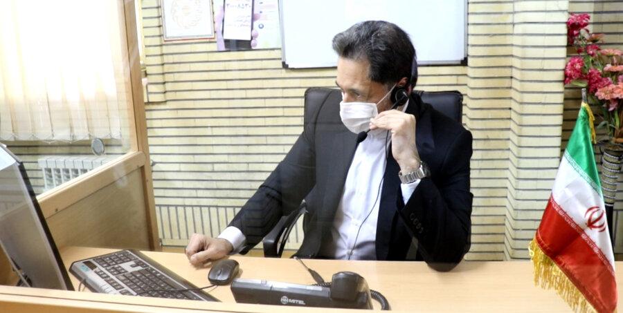مدیرکل بهزیستی گیلان پاسخگوی مشکلات تماس گیرندگان در واحد صدای مشاور  ۱۴۸۰ به مناسبت هفته سلامت روان