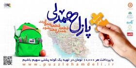 حضور کلیه کارکنان مدیریت بهزیستی شهرستان بوشهر در پویش پازل همدلی