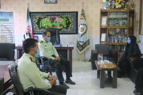 گلپایگان  تأکید بر تعامل بیشتر در دیدار سرپرست اداره بهزیستی با فرمانده نیروی انتظامی