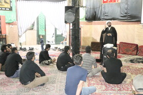 هیأت  عاشقان بی صدای امام حسین (ع) کرمان فعال در مراسم عزاداری