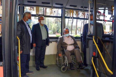 بهره برداری از نخستین اتوبوس مناسب سازی شده ویژه نابینایان و ناشنوایان در یزد