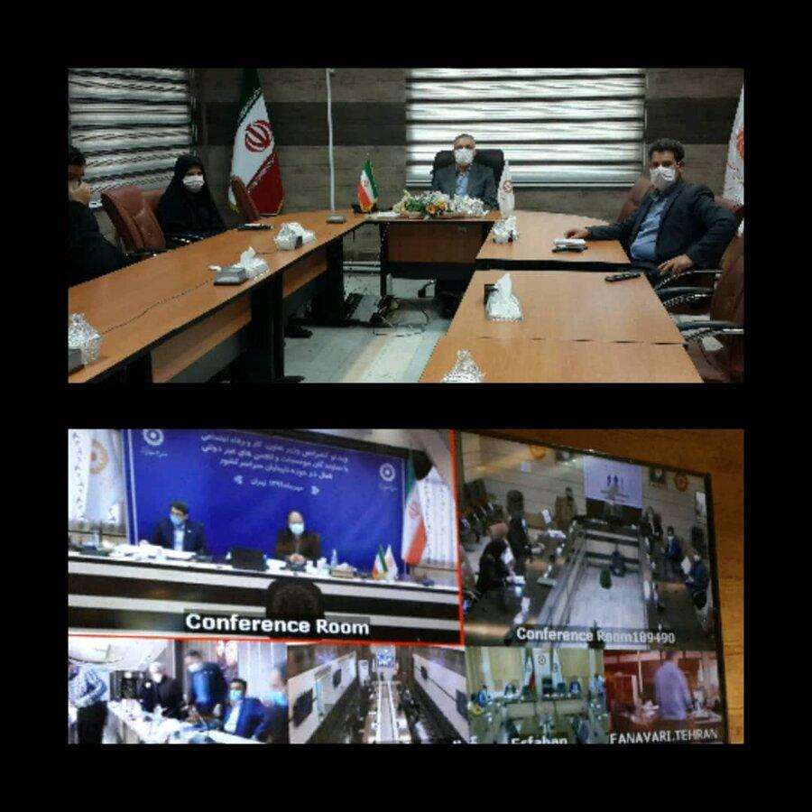 دیدار مجازی نمایندگان جامعه نابینایان با وزیر محترم تعاون، کار ورفاه اجتماعی و ریاست سازمان بهزیستی کشور