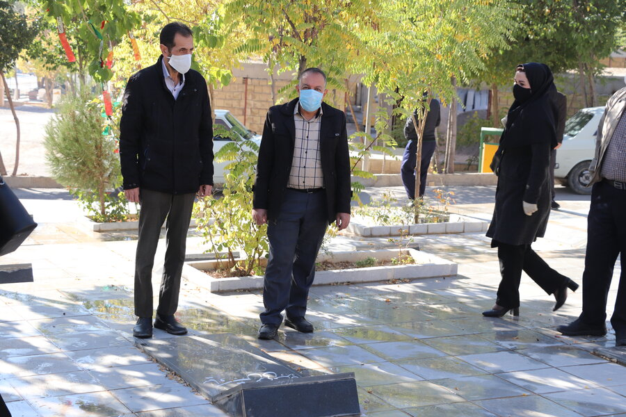 گزارش تصویری  غبار روبی گلزار مطهر شهدا