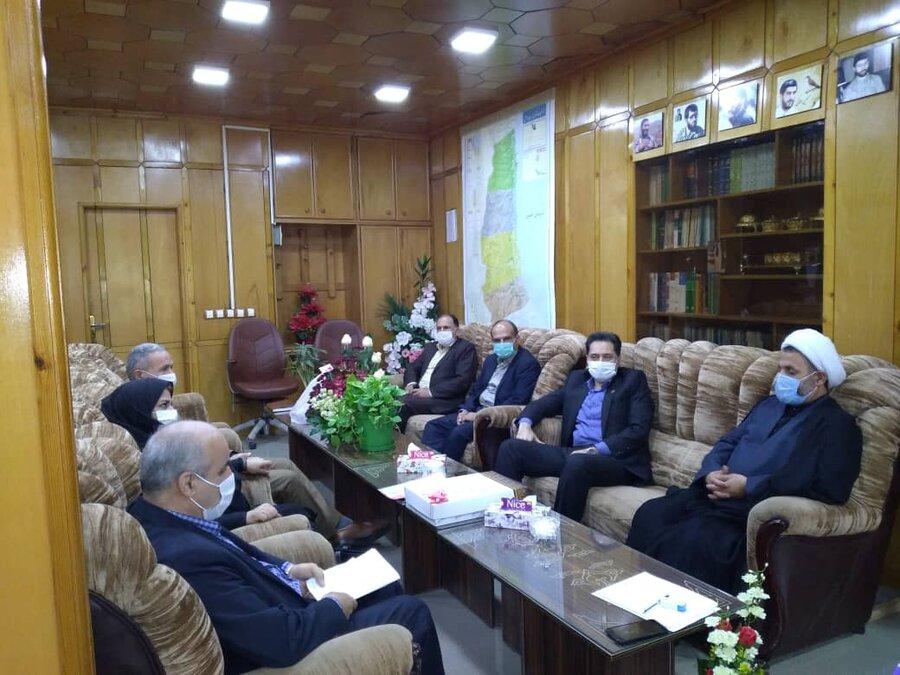 نشست دکتر حسین نحوی نژاد با فرماندار تالش جهت بررسی مناطق سیل زده شهرستان تالش