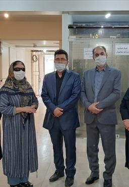 کرج | مراسم تقدیر از همکاران و مددجویان نابینا بهزیستی کرج برگزار شد