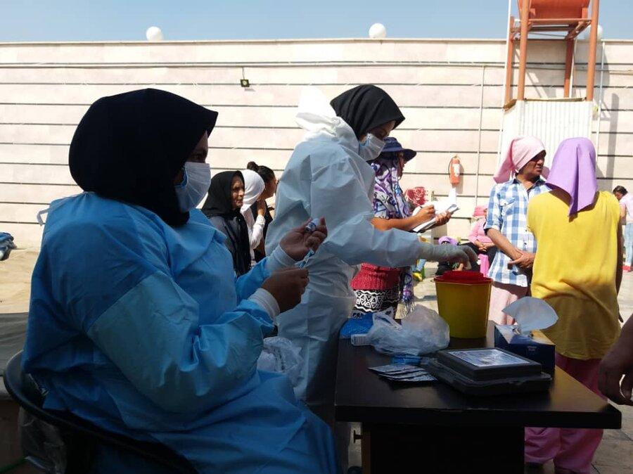 پیشوا| واکسینه شدن بیماران مستقر در مرکز بهبودی معتادین زن برابر هپاتیتB