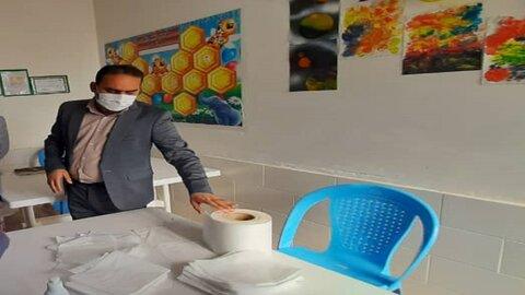در رسانه  تولید ماسک به همت بانوان رامشیری ادامه دارد