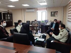 رئیس اداره کفالت حوزه نظام وظیفه عمومی استان البرز با مدیرکل بهزیستی استان دیدار کرد