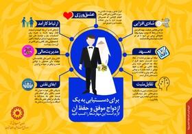 اینفوگرافی |راههای دستیابی به ازدواج موفق