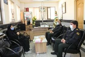 سمیرم| دیدار با فرمانده نیروی انتظامی