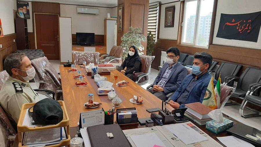 ملارد|دیدار رئیس اداره بهزیستی با فرماندهی انتظامی شهرستان