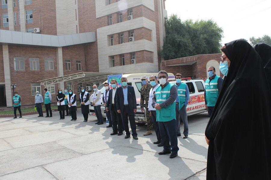 گزارش تصویری مانور پدافند غیر عامل در بهزیستی خوزستان برگزار شد