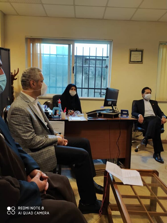 نشست دکتر حسین نحوی نژاد با دادیار شعبه سرپرستی شهرستان رشت