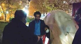 رسیدگی به وضعیت خانواده ای چادر نشین در جوار بیمارستان امام رضا ارومیه