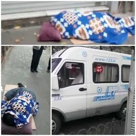 انتقال مرد کارتن خواب به مرکز توانبخشی فیاض بخش بهزیستی