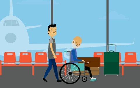 موشن گرافیک    برقراری ارتباط صحیح با افراد دارای معلولیت